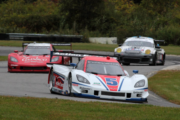 27-28 September, 2013, Lakeville, Connecticut USA The #5 Corvette DP of Joao Barbosa and Christian Fittipaldi in action during practice. ©2013, R.D. Ethan LAT Photo USA