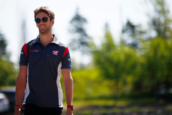 Circuit Gilles Villeneuve, Montreal, Canada. Thursday 08 June 2017. Romain Grosjean, Haas F1.  World Copyright: Andy Hone/LAT Images ref: Digital Image _ONY2167
