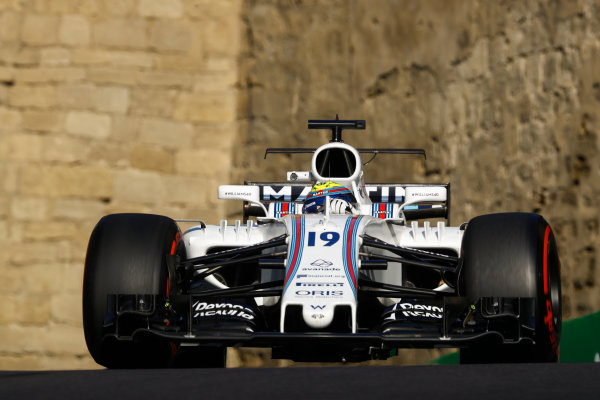Baku City Circuit, Baku, Azerbaijan. Friday 23 June 2017. Felipe Massa, Williams FW40 Mercedes. World Copyright: Steven Tee/LAT Images ref: Digital Image _O3I1354