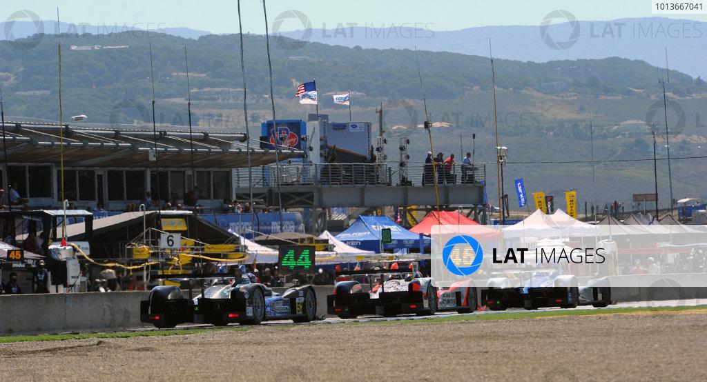 16-18 September, 2011, Monterey, California USA#06 Core Autosports Oreca FLM09 with #89 Oreca and #52 Oreca.(c)2011,  Dan R. Boyd  LAT Photo USA