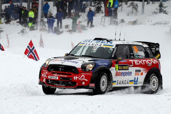 Round 02 - Rally Sweden 09-12 February 2012. Richard Goransson, Mini WRC, Action.  Worldwide Copyright: McKlein/LAT
