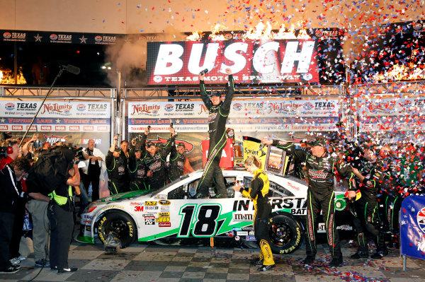 11-13 April, 2013, Fort Worth, Texas USA Kyle Busch celebrates his victory ©2013, Nigel Kinrade LAT Photo USA