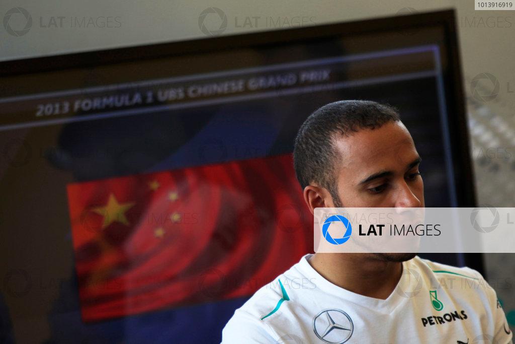 Shanghai International Circuit, Shanghai, China Saturday 13th April 2013 Lewis Hamilton, Mercedes AMG.  World Copyright: Charles Coates/LAT Photographic ref: Digital Image _X5J1182