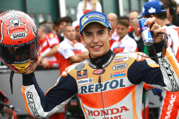 2017 MotoGP Championship - Round 13 Misano, Italy. Sunday 10 September 2017 Race winner Marc Marquez, Repsol Honda Team World Copyright: Gold and Goose / LAT Images ref: Digital Image 7940