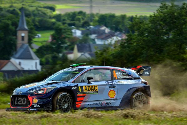 2017 FIA World Rally Championship, Round 10, Rallye Deutschland, 17-20 August, 2017, Hayden Paddon, Hyundai, action, Worldwide Copyright: McKlein/LAT