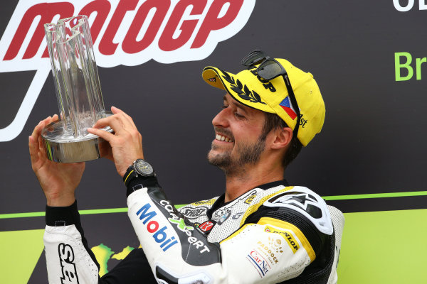 2017 Moto2 Championship - Round 10 Brno, Czech Republic Sunday 6 August 2017 Podium: race winner Thomas Luthi, CarXpert Interwetten World Copyright: Gold and Goose / LAT Images ref: Digital Image 50880