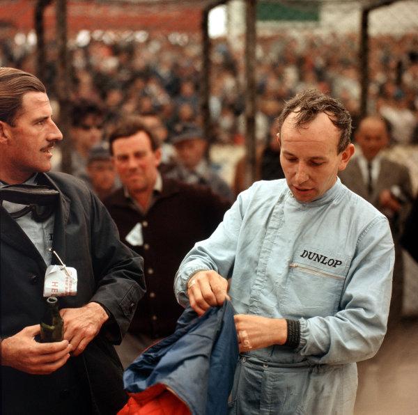 Nurburgring, Germany. 31/7-2/8 1964. Graham Hill (BRM/Owen Racing Org.) and John Surtees (Ferrari). Ref-3/1381. World Copyright - LAT Photographic.