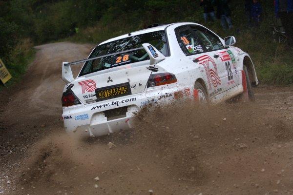 2007 British Rally Championship,Rally Yorkshire, 6th October 2007,Hugh Evans, Mitsubishi Evo, World Copyright: Ebrey/LAT Photographic.