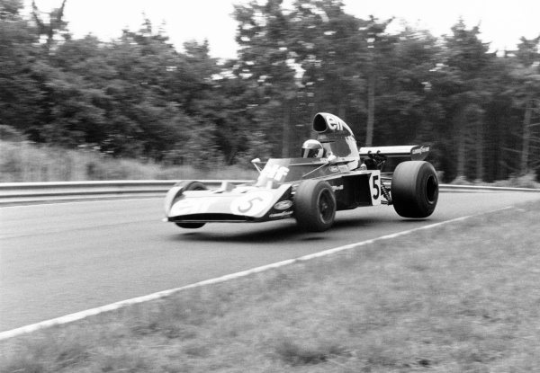 1973 German Grand Prix.Nurburgring, Germany. 5 August 1973.Jackie Stewart, Tyrrell 006-Ford, 1st position, action.World Copyright: LAT PhotographicRef: 193/18A