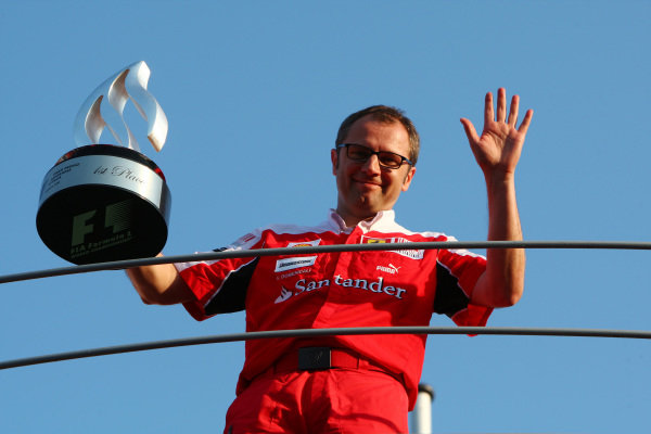 Stefano Domenicali (ITA) Ferrari General Director celebrates after the race.  Formula One World Championship, Rd 14, Italian Grand Prix, Race Day, Monza, Italy, Sunday 12 September 2010.  BEST IMAGE