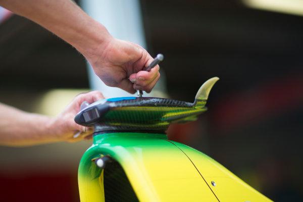 2014/2015 FIA Formula E Championship. Preparations Begin. Thursday Set-Up. Monaco ePrix, Monte Carlo, Monaco, Europe. Thursday 7 May 2015  Photo: Adam Warner/LAT/Formula E ref: Digital Image _L5R8057