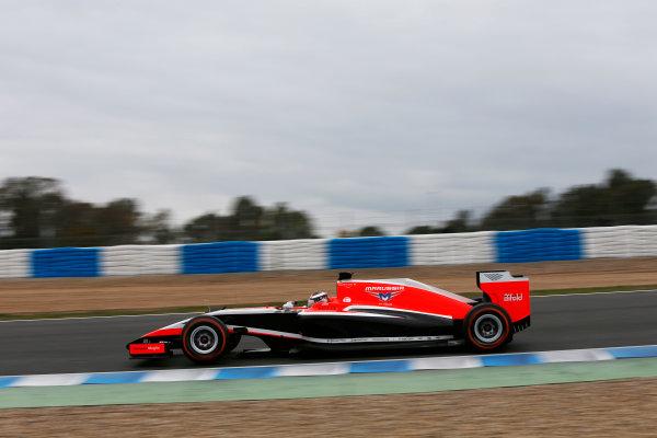 2014 F1 Pre Season Test 1 - Day 4 Circuito de Jerez, Jerez, Spain. Friday 31 January 2014. Jules Bianchi, Marussia MR03 Ferrari. World Copyright: Andrew Ferraro/LAT Photographic. ref: Digital Image _79P7838.JPG