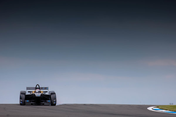 FIA Formula E Test Day, Donington Park, UK.  3rd - 4th July 2014.  Jarno Trulli, Trulli GP. Photo: Malcolm Griffiths/FIA Formula E ref: Digital Image F80P7412