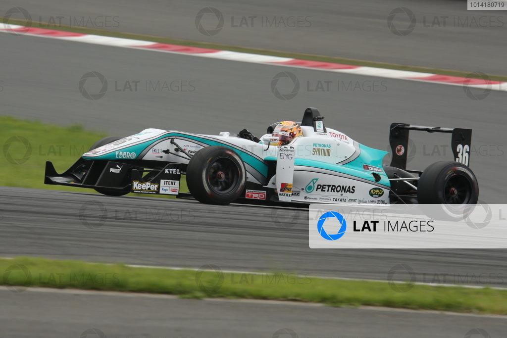 2014 All-Japan F3 Championship. Fuji, Japan. 11th - 13th July 2014. Rd 4. Race 2 - 2nd position Kenta Yamashita ( #36 PETRONAS TEAM TOM'S ) action. World Copyright: Yasushi Ishihara / LAT Photographic. Ref: 2014JF3_Rd8&9_028.JPG