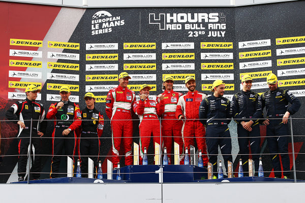2017  European Le Mans Series, Red Bull Ring, 21st-23rd July 2017, GTE Podium World Copyright. JEP/LAT Images