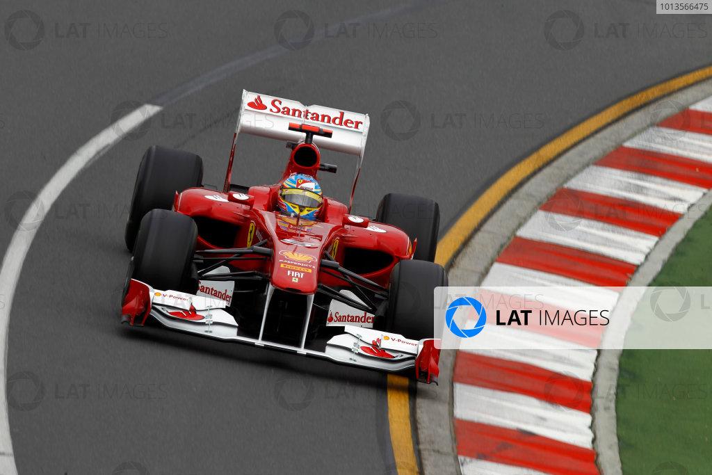 Albert Park, Melbourne, Australia 25th March 2011. Fernando Alonso, Ferrari 150° Italia. Action.  World Copyright: Andrew Ferraro/LAT Photographic ref: Digital Image _Q0C7817