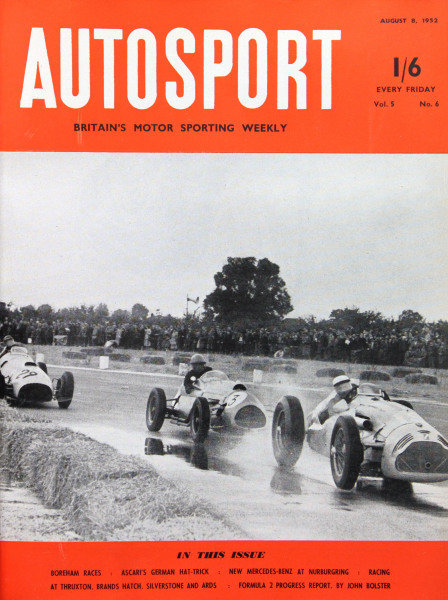 Cover of Autosport magazine, 8th August 1952