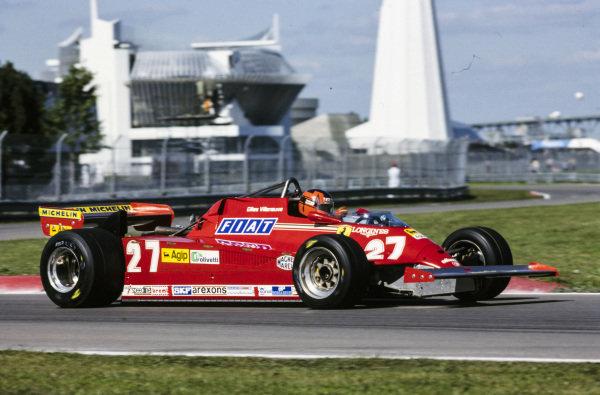 Gilles Villeneuve, Ferrari 126CK.