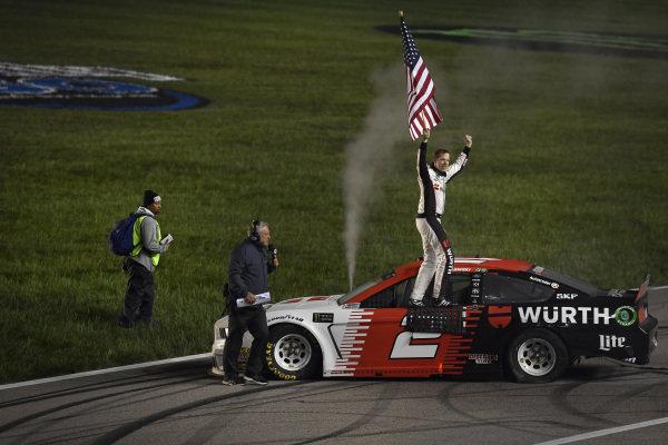 #2: Brad Keselowski, Team Penske, Ford Mustang Wurth, winner