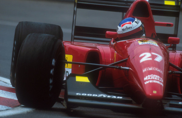 1992 Canadian Grand Prix.Montreal, Quebec, Canada.12-14 June 1992.Jean Alesi (Ferrari F92A) 3rd position.Ref-92 CAN 05.World Copyright - LAT Photographic