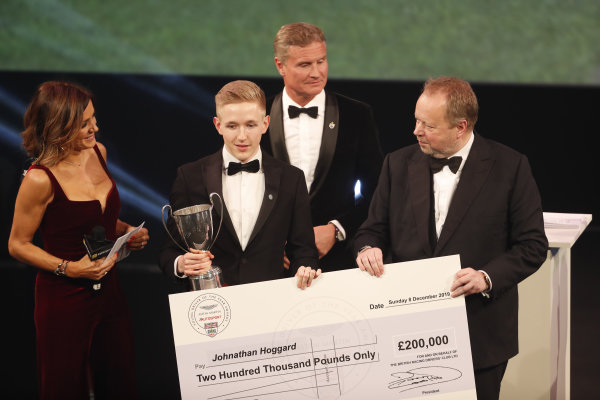 Johnatahan Hoggard wins the Aston Martin Autosport BRDC Young Driver Of The Year Award