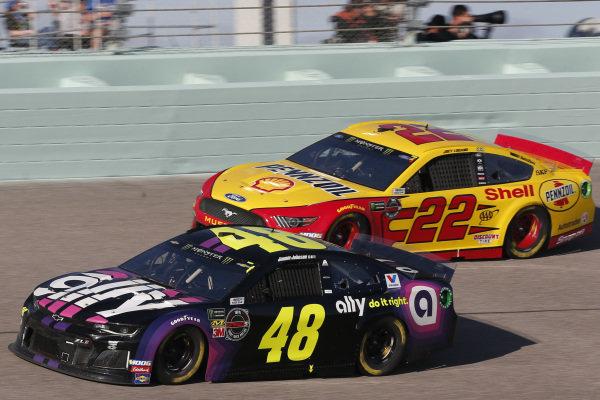 #48: Jimmie Johnson, Hendrick Motorsports, Chevrolet Camaro Ally #22: Joey Logano, Team Penske, Ford Mustang Shell Pennzoil