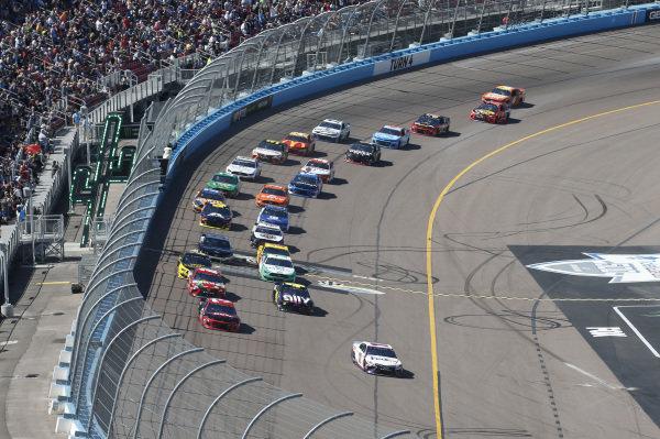 #11: Denny Hamlin, Joe Gibbs Racing, Toyota Camry FedEx Freight #3: Austin Dillon, Richard Childress Racing, Chevrolet Dow