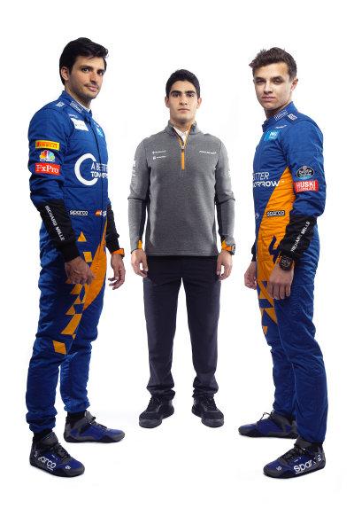 Carlos Sainz Jr, McLaren, Sergio Sette Camara, McLaren and Lando Norris, McLaren