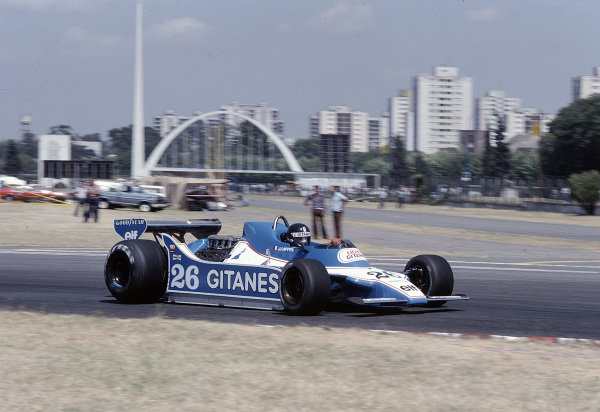1979 Argentinian Grand Prix.Buenos Aires, Argentina.19-21 January 1979.Jacques Laffite (Ligier JS11 Ford) 1st position.Ref-79 ARG 13.World Copyright - LAT Photographic