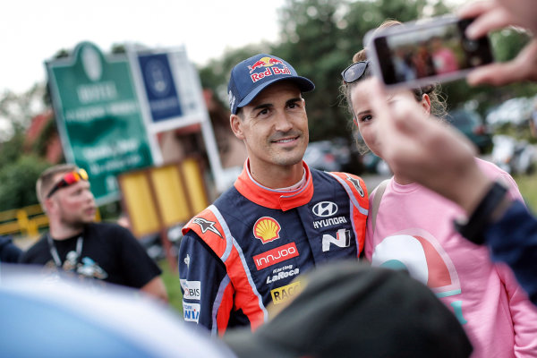 Dani Sordo (ESP), Hyundai Motorsport WRC at World Rally Championship, Rd8, Rally Poland, Day One, Mikolajki, Poland, 30 June 2017.