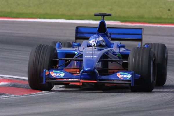 2001 Malaysian Grand Prix.Sepang, Kuala Lumpur, Malaysia. 16-18 March 2001.Jean Alesi (Prost AP04 Acer) 9th position.World Copyright - LAT Photographicref: 8 9MB DIGITAL IMAGE