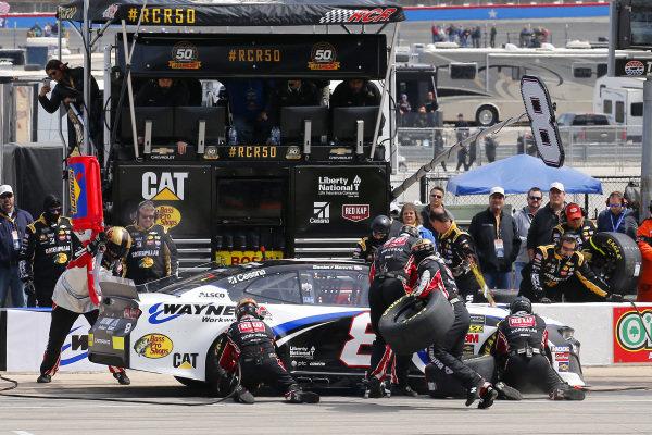 #8: Daniel Hemric, Richard Childress Racing, Chevrolet Camaro Bulwark FR / Wayne Workwear pit stop