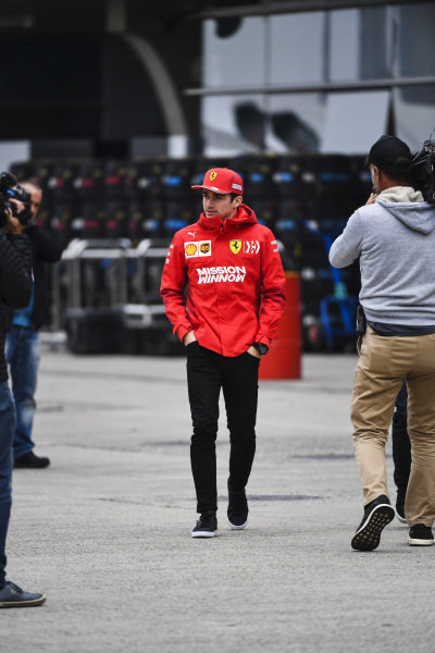 Charles Leclerc, Ferrari walks through the paddock
