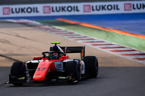SOCHI AUTODROM, RUSSIAN FEDERATION - SEPTEMBER 28: Mahaveer Raghunathan (IND, MP MOTORSPORT) during the Sochi at Sochi Autodrom on September 28, 2019 in Sochi Autodrom, Russian Federation. (Photo by Joe Portlock / LAT Images / FIA F2 Championship)