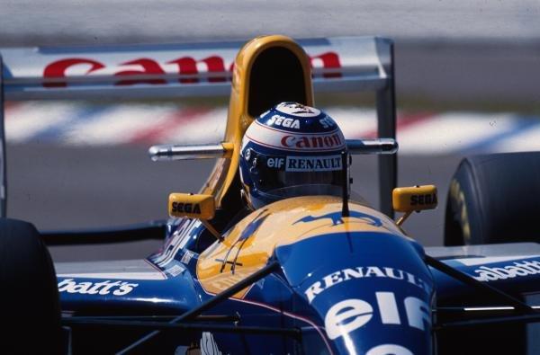 Alain Prost (FRA) Williams FW15C, 1st place. German Grand Prix, Hockenheim, 25 July 1993
