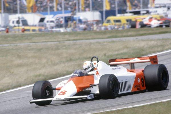 1981 German Grand Prix.Hockenheim, Germany. 31 July-2 August 1981.Andrea de Cesaris (McLaren MP4/1-Ford Cosworth), retired.World Copyright: LAT PhotographicRef: 35mm transparency 81GER16