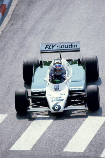1982 Monaco Grand Prix.Monte Carlo, Monaco. 23 May 1982.Keke Rosberg (Williams FW08-Ford Cosworth).World Copyright:LAT Photographic