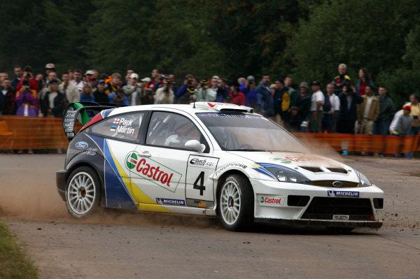 2003 FIA World Rally Champs. Round eight, Deutschland Rally 24th-27th July 2003.Markko Martin, Ford, action. World Copyright: McKlein/LAT
