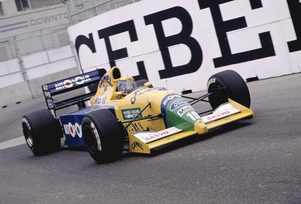 1991 United States Grand Prix.Phoenix, Arizona, USA.8-10 March 1991.Roberto Moreno (Benetton B190B Ford).Ref-91 USA 38.World Copyright - LAT Photographic