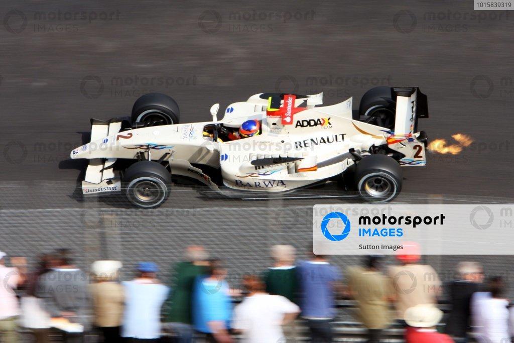Romain Grosjean (FRA) Barwa Addax Team. GP2 Series, Rd2, Race 2, Monte-Carlo, Monaco, Saturday 23 May 2009.