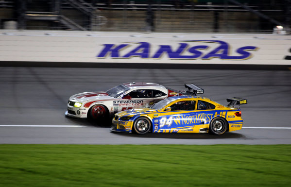 16-17 August, 2013, Kansas City, Kansas USA A pair of GT cars races down the front stretch. ©2013, R.D. Ethan LAT Photo USA