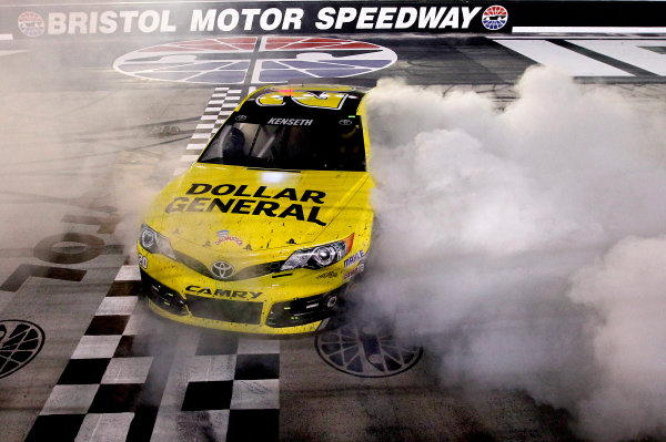 23-24 August, 2013, Bristol, Tennessee USA Matt Kenseth, Dollar General Toyota Camry celebrates ©2013, Matthew T. Thacker LAT Photo USA