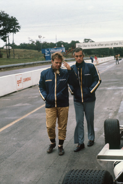 1971 Canadian Grand Prix.  Mosport, Canada. 17-19th September 1971.  Mark Donohue and Roger Penske.  Ref: 71CAN48. World Copyright: LAT Photographic