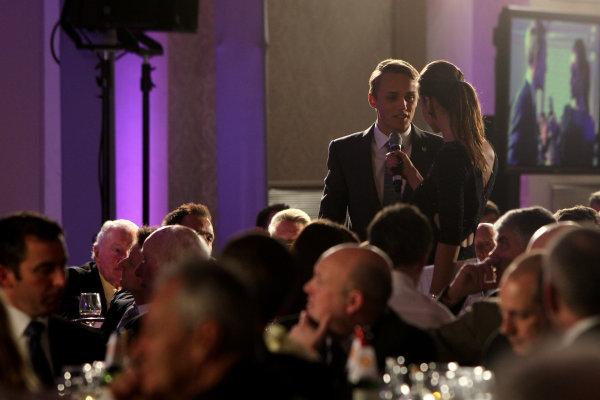 2013 BRDC Awards,2nd December 2013, Grand Connaught Rooms, London, England,Max Chilton (GBR)World Copyright. Jakob  Ebrey/LAT Photographic