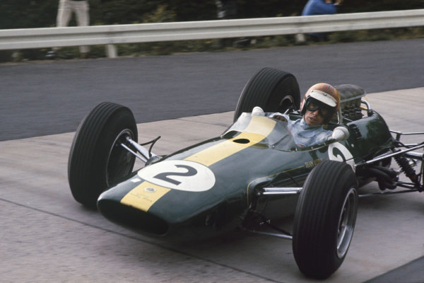 Nurburgring, Germany. 30/7 - 1/8 1965.  Mike Spence (Lotus 33) retired on lap 8.  Ref: 65GER01. World Copyright: LAT Photographic