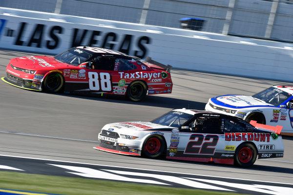 6-7 March 2015, Las Vegas, Nevada USA Brian Scott2 and Dale Earnhardt Jr ? 2015, Nigel Kinrade LAT Photo USA