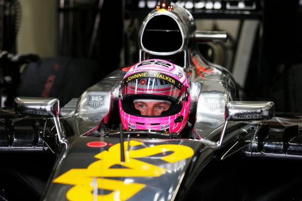 Interlagos, Sao Paulo, Brazil. Saturday 8 November 2014. Jenson Button, McLaren. World Copyright: Steven Tee/LAT Photographic. ref: Digital Image _L4R1393