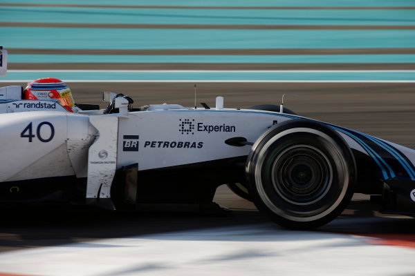 Yas Marina Circuit, Abu Dhabi, United Arab Emirates. Wednesday 26 November 2014. Felipe Nasr, Williams FW36 Mercedes. World Copyright: Glenn Dunbar/LAT Photographic. ref: Digital Image _W2Q8580