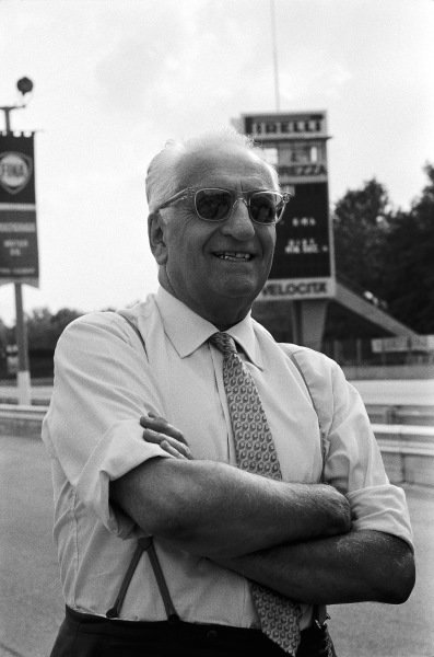 """Enzo Ferrari, """"Il Commendatore""""."""