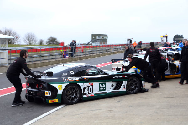 2016 British GT Championship, Media Day, Snetterton, 15 March 2016. Sean Byrne / Aleksander Schjerpen Century Motorsport Ginetta G55 GT4  World copyright. Ebrey/LAT Photographic